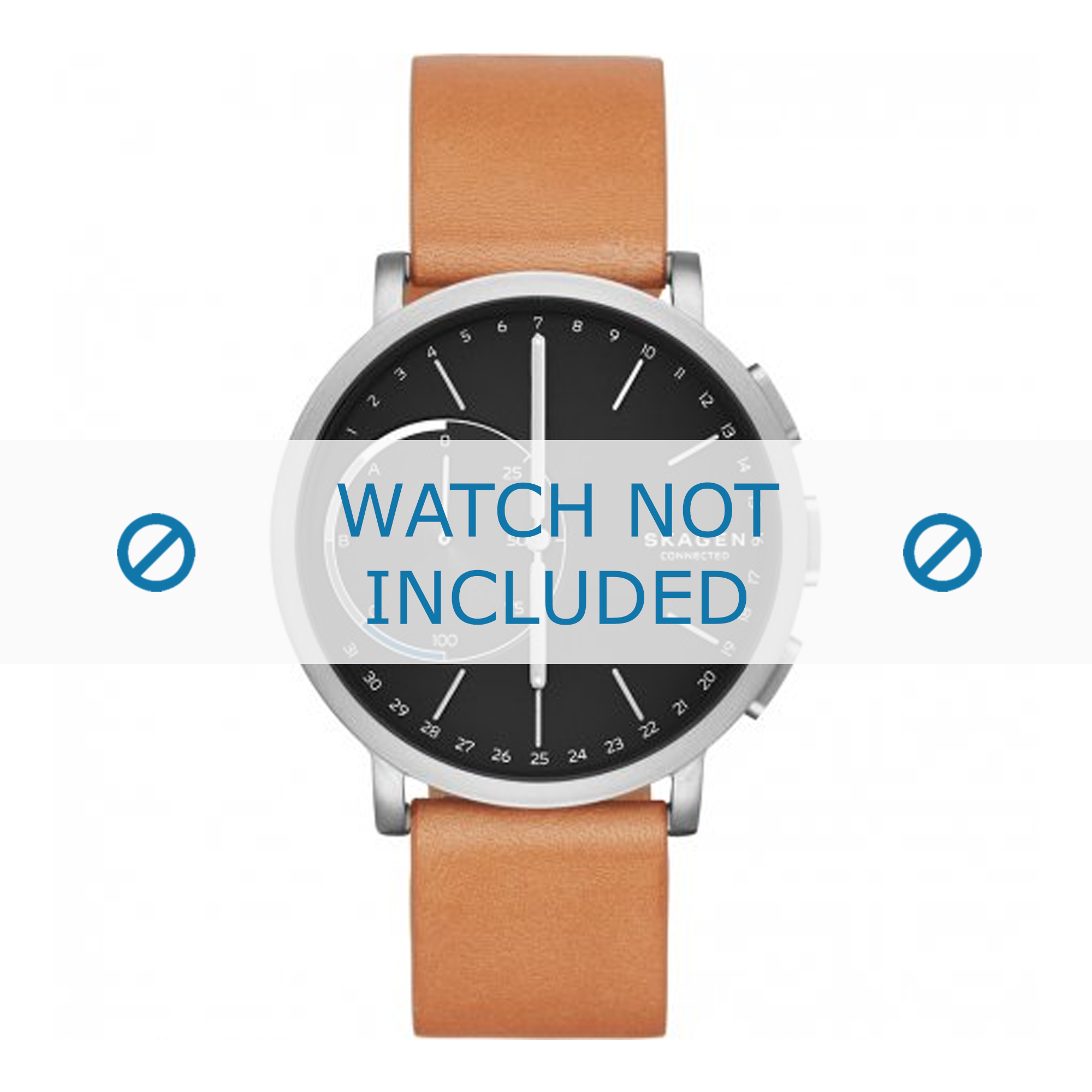 Skagen horlogeband SKT1104 Leder Lichtbruin 20mm