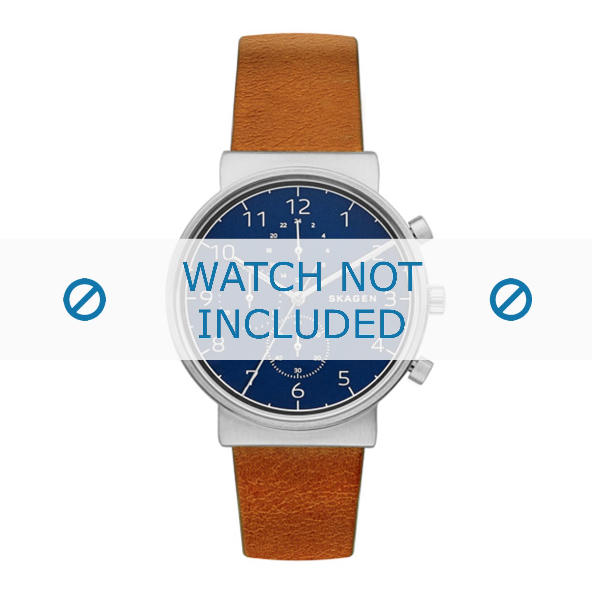 Skagen horlogeband SKW6358 Leder Bruin 20mm