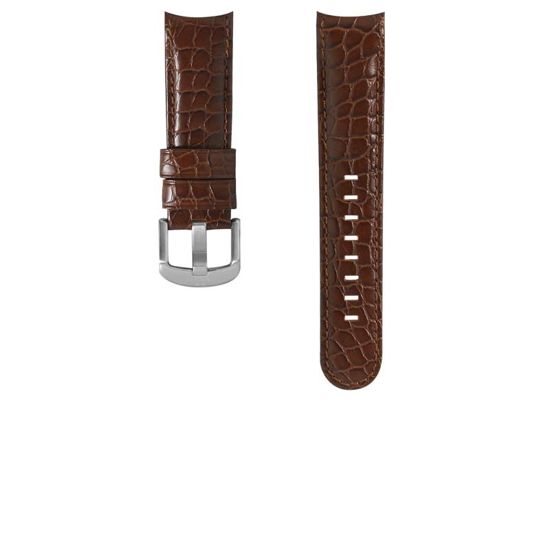 TW Steel horlogeband TWB127 / TW127 Leder Bruin 24mm + bruin stiksel