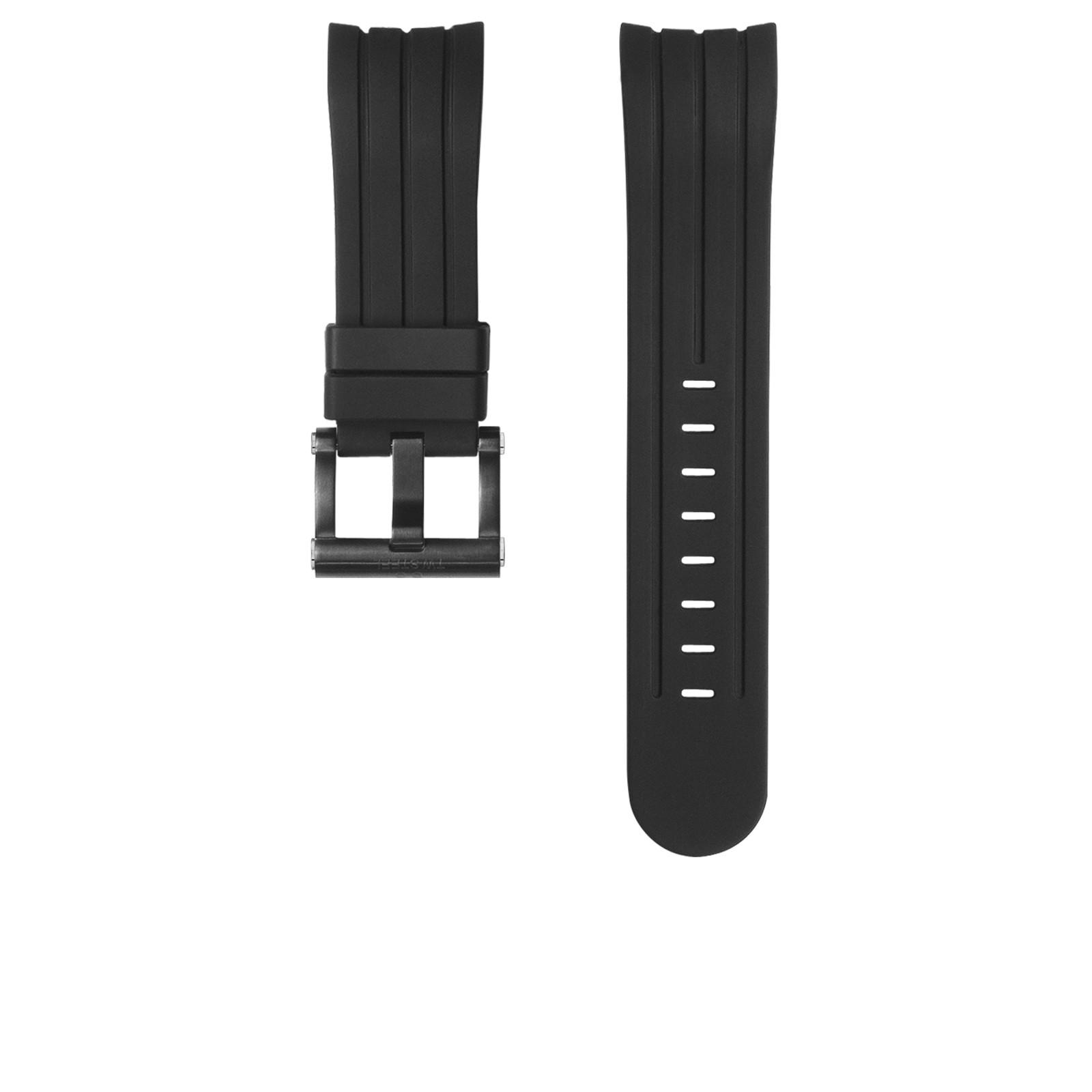 TW Steel horlogeband TWB158 Silicoon Zwart 22mm