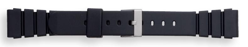 Morellato horlogeband Tipo Seiko Rubber U0199198019MO22 / PMU019SEIKO22 Rubber Zwart 22mm