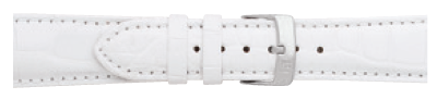 Morellato horlogeband Amadeus G.Croc Mat U0518339017CR22 / PMU017AMADEA22 Krokodillenleer Wit 22mm + standaard stiksel