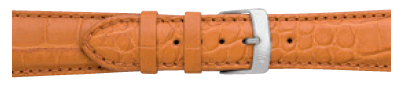 Morellato horlogeband Amadeus G.Croc Mat U0518339044CR22 / PMU044AMADEA22 Krokodillenleer Bruin 22mm + standaard stiksel