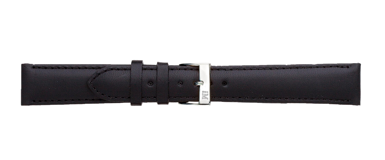 Morellato horlogeband Grapic U0969087019CR22 / PMU019GRAFIC22 Glad leder Zwart 22mm + standaard stiksel