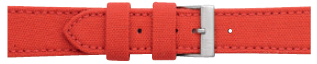 Morellato horlogeband Cordura/17 U2779110083CR24 / PMU083CORDUR24 Glad leder Rood 24mm + standaard stiksel
