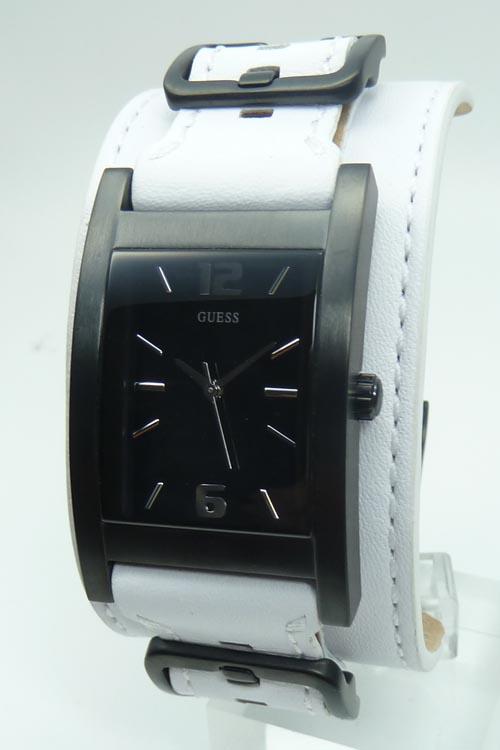 Guess horlogeband W10609G wit Leder Wit + wit stiksel