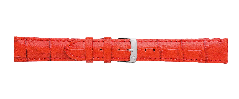 Morellato horlogeband Samba X2704656083CR22 / PMX083SAMBA22 Croco leder Rood 22mm + standaard stiksel