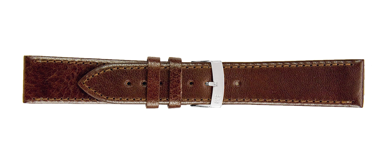 Morellato horlogeband Agila X3425695034CR20 / PMX034AGILA20 Glad leder Donkerbruin 20mm + standaard stiksel