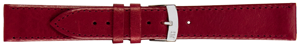 Morellato horlogeband Agila X3425695081CR20 / PMX081AGILA20 Glad leder Bordeaux 20mm + standaard stiksel