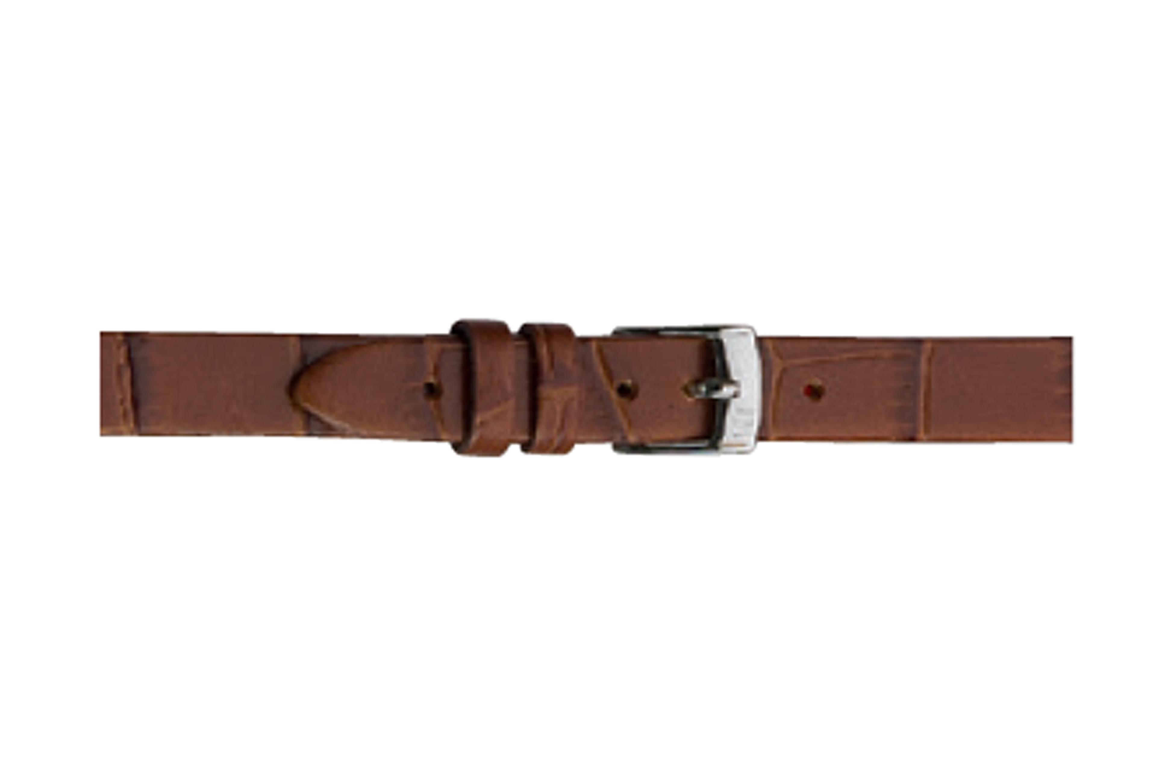 Morellato horlogeband Thin D2860656041CR06 / PMD041THINA06 Croco leder Bruin 6mm