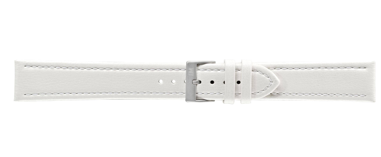 Morellato horlogeband Tipo Locman XL K2195432017SB24 / PMK017LOCMAN24 Glad leder Wit 24mm + standaard stiksel