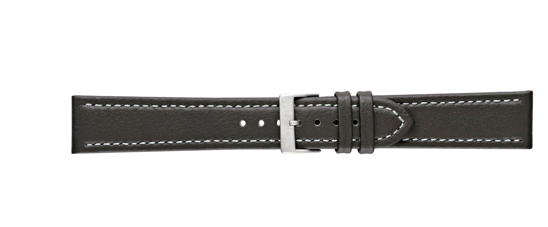 Morellato horlogeband Tipo Locman U2195432032SB24 / PMU032LOCMAN24 Glad leder Donkerbruin 24mm + wit stiksel