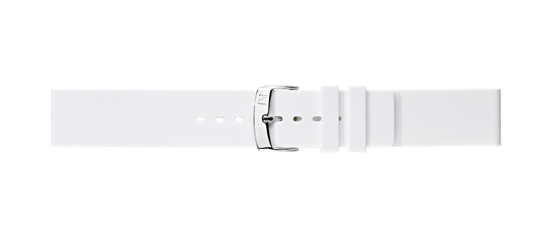 Morellato horlogeband Smooth U2571187017CR24 / PMU017SMOOTH24 Rubber Wit 24mm