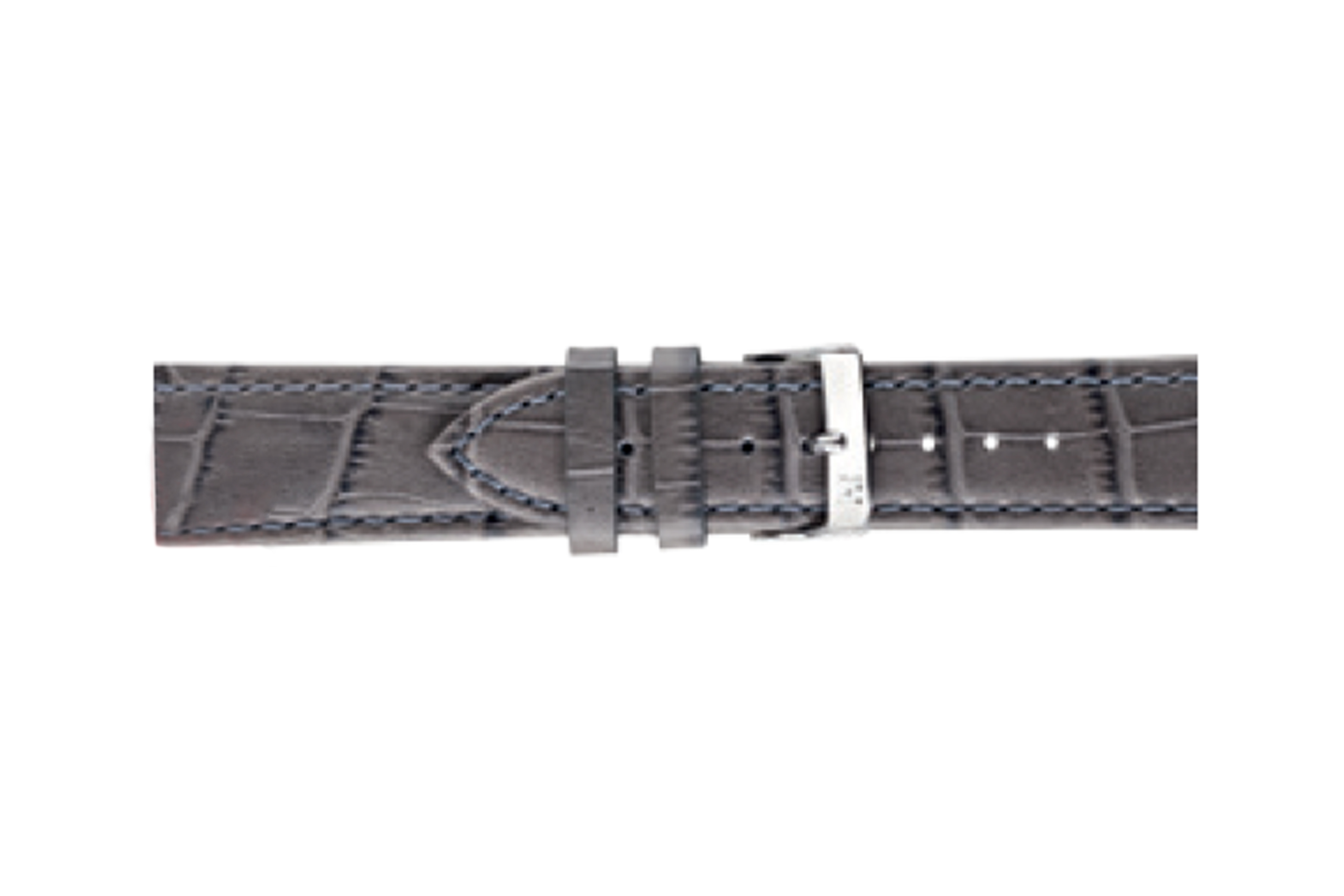 Morellato horlogeband Bolle X2269480090CR24 / PMX090BOLLE24 Croco leder Antracietgrijs 24mm + standaard stiksel
