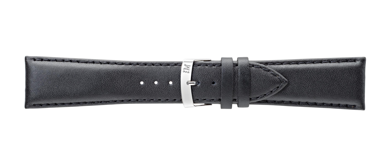 Morellato horlogeband Extra Napa X3395875019CR30 / PMX019EXTRAN30 Leder Zwart 30mm + standaard stiksel