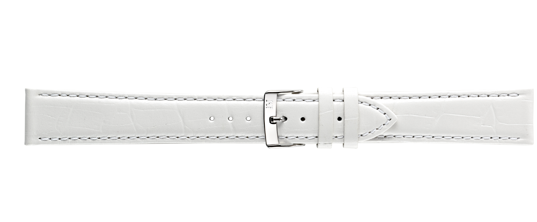 Morellato horlogeband Bolle XL Y2269480017CR24 / PMY017BOLLE24 Croco leder Wit 24mm + standaard stiksel