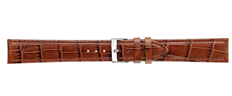 Morellato horlogeband Bolle XL Y2269480041CR24 / PMY041BOLLE24 Croco leder Bruin 24mm + standaard stiksel