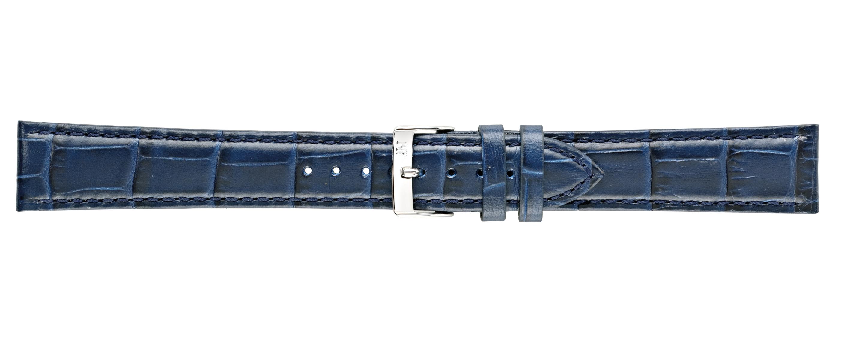 Morellato horlogeband Bolle XL Y2269480061CR24 / PMY061BOLLE24 Croco leder Blauw 24mm + standaard stiksel