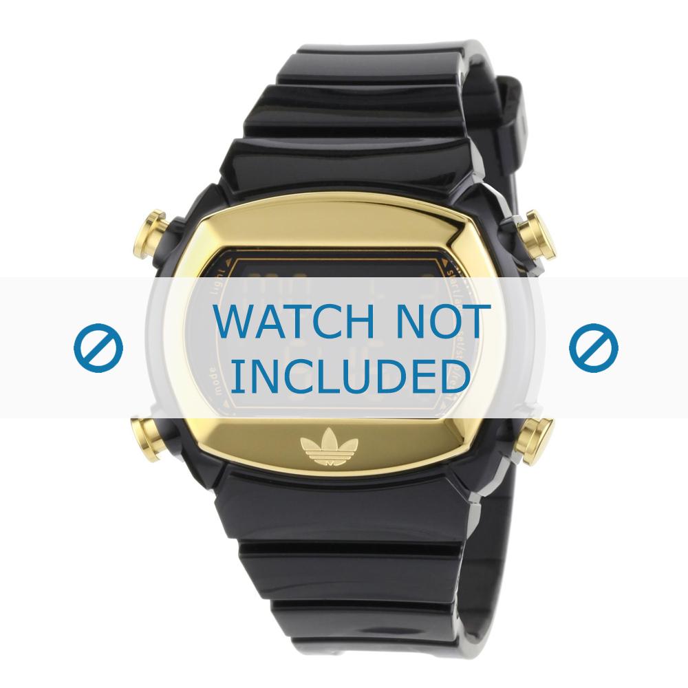 Adidas horlogeband ADH1572 Silicoon Zwart 22mm
