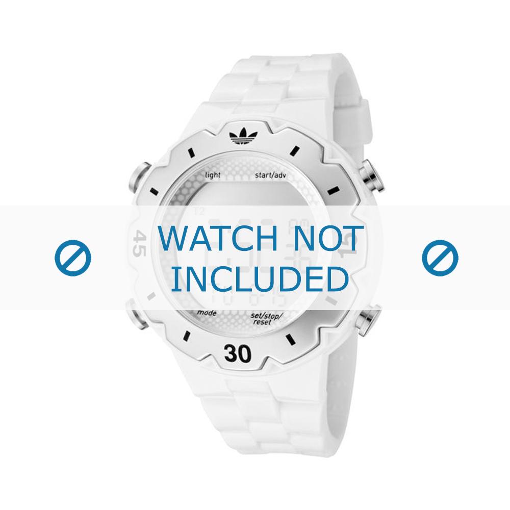 Adidas horlogeband ADH1768 Silicoon Wit 16mm