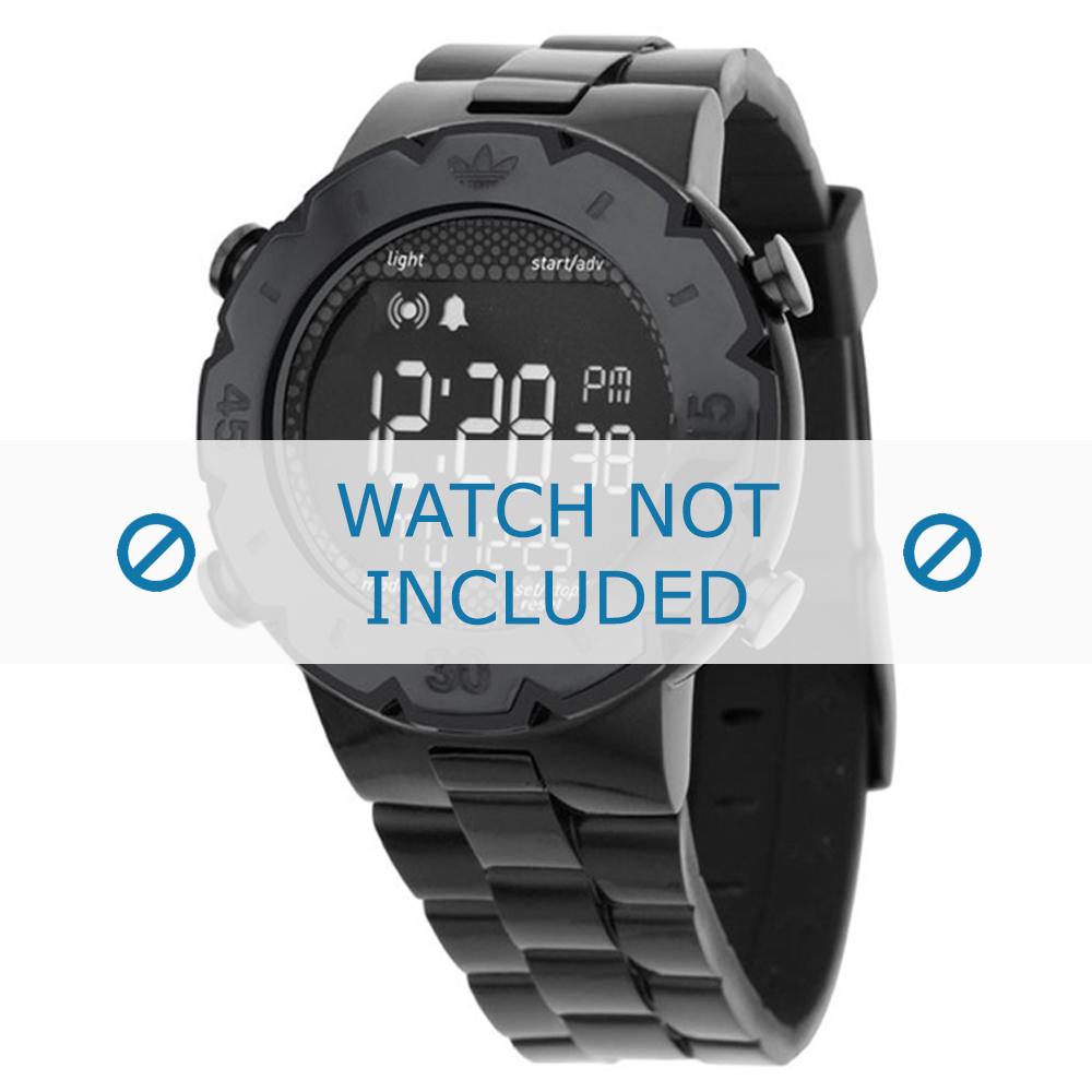 Adidas horlogeband ADH1769 Silicoon Zwart 16mm