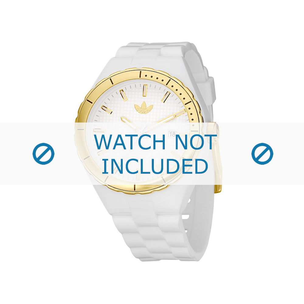 Adidas horlogeband ADH2026 Silicoon Wit 22mm