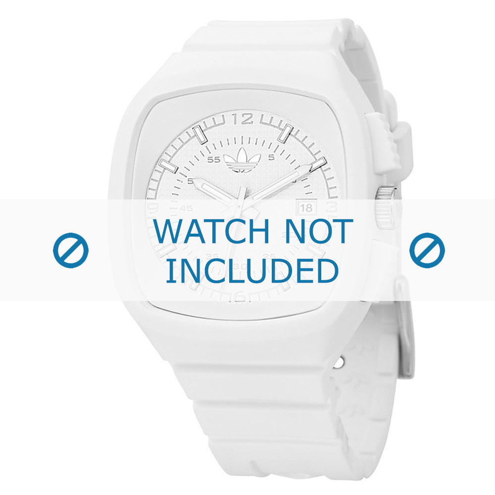 Adidas horlogeband ADH2036 Silicoon Wit 22mm