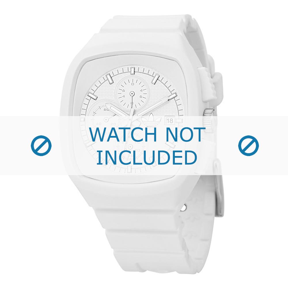 Adidas horlogeband ADH2037 Silicoon Wit 22mm