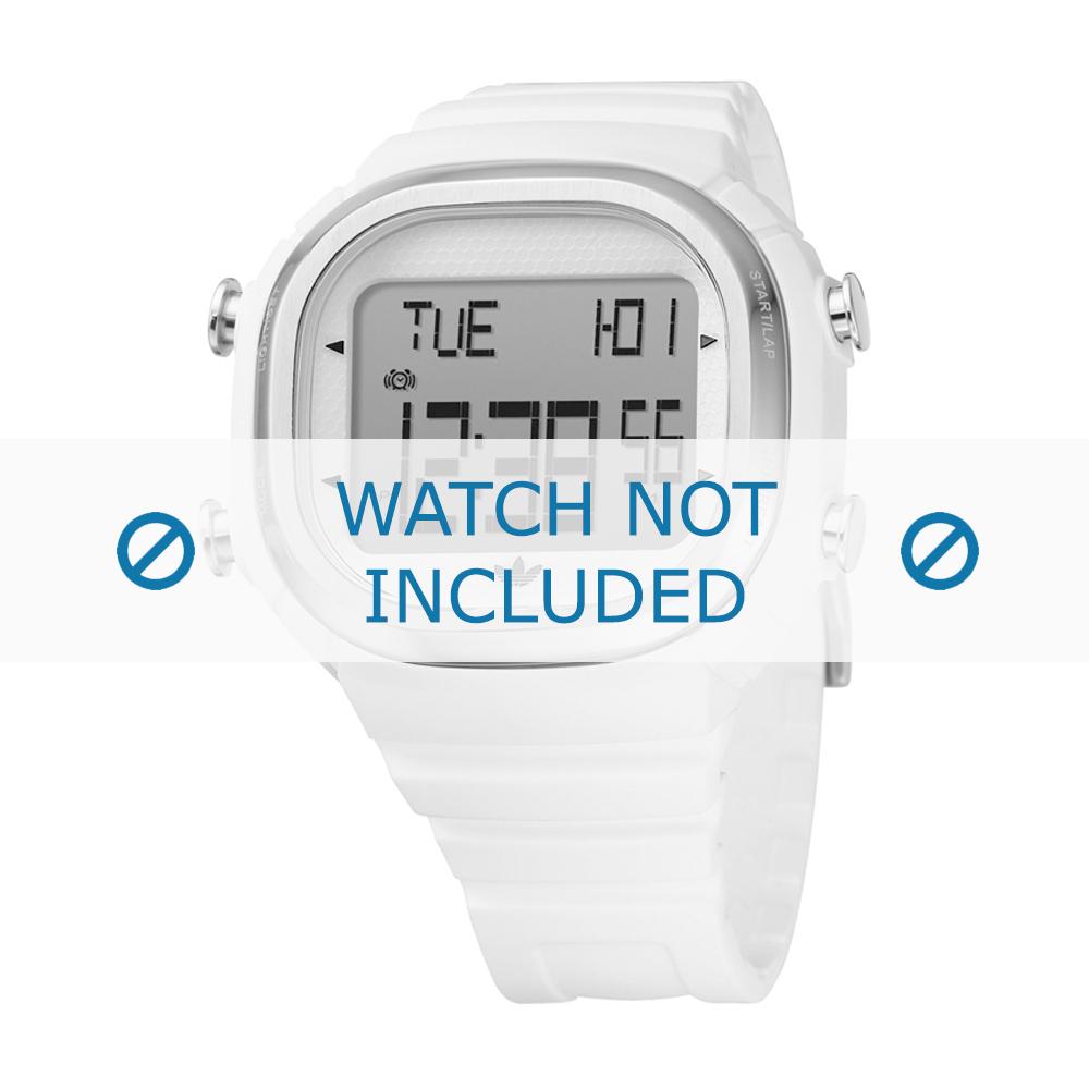 Adidas horlogeband ADH2044 Kunststof Wit 21mm