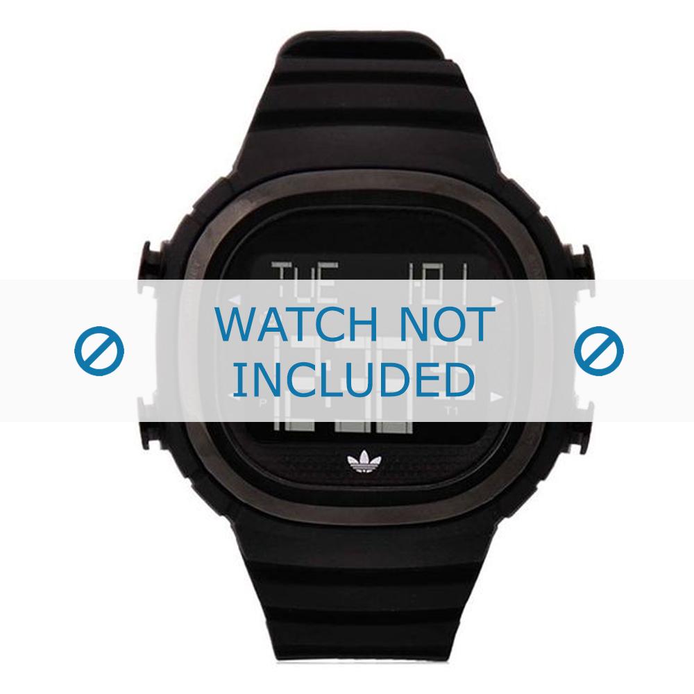 Adidas horlogeband ADH2045 Silicoon Zwart 24mm