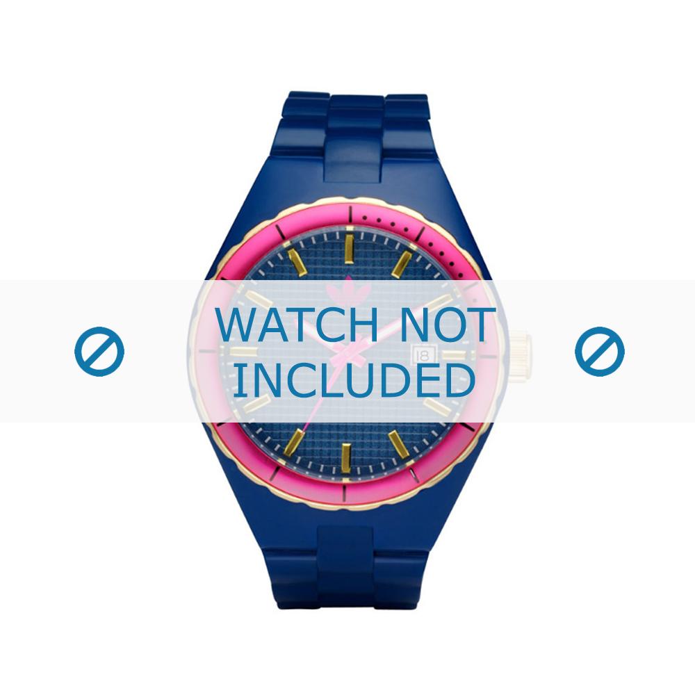 Adidas horlogeband ADH2049 Silicoon Blauw 22mm