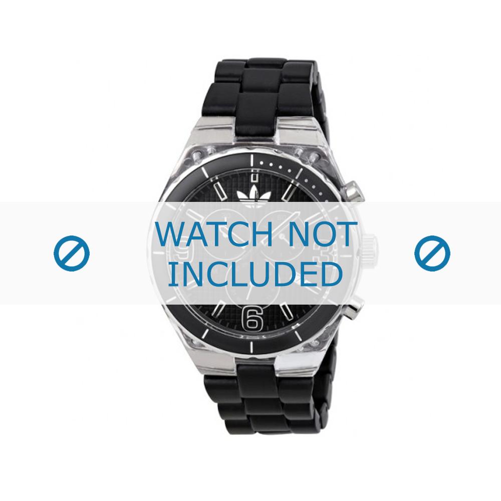 Adidas horlogeband ADH2542 Kunststof Zwart 8mm