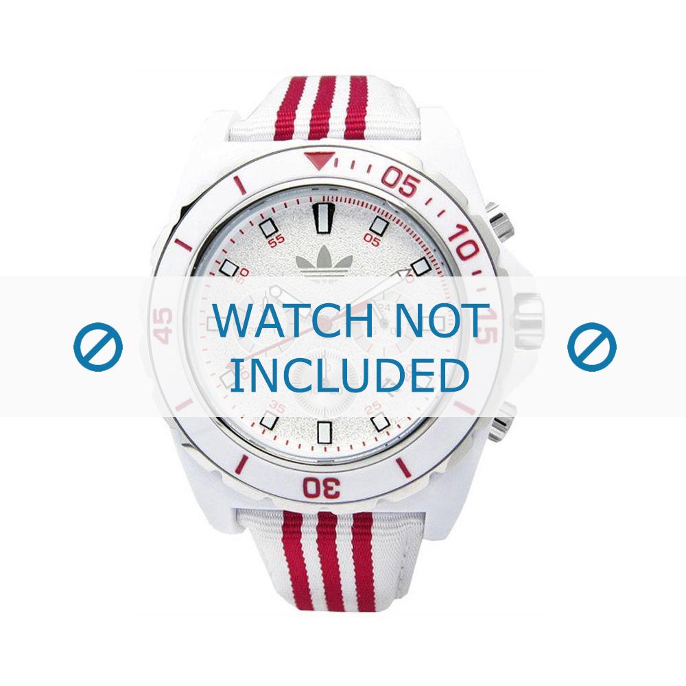 Adidas horlogeband ADH2666 Silicoon Wit 24mm
