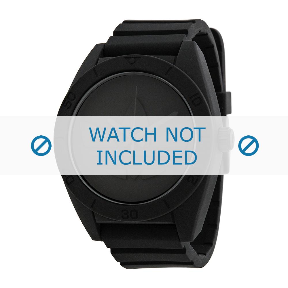 Adidas horlogeband ADH2710 Silicoon Zwart 24mm