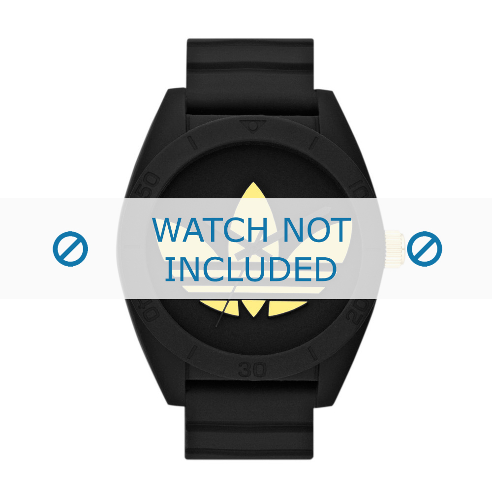 Adidas horlogeband ADH2712 Silicoon Zwart 24mm