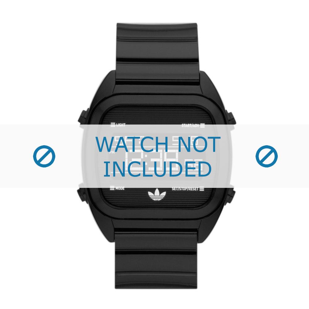 Adidas horlogeband ADH2726 Silicoon Zwart 22mm