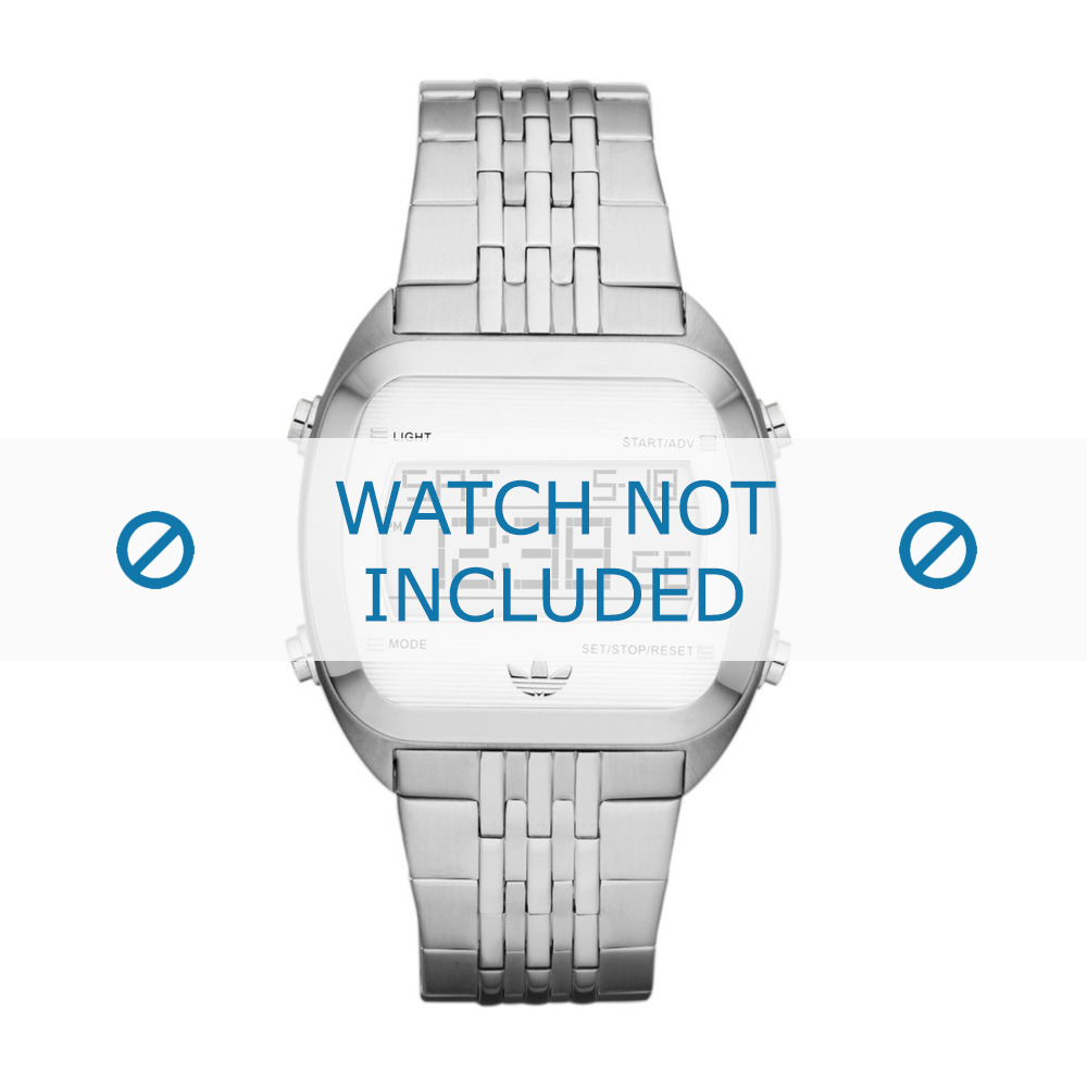 Adidas horlogeband ADH2733 Staal Zilver 24mm
