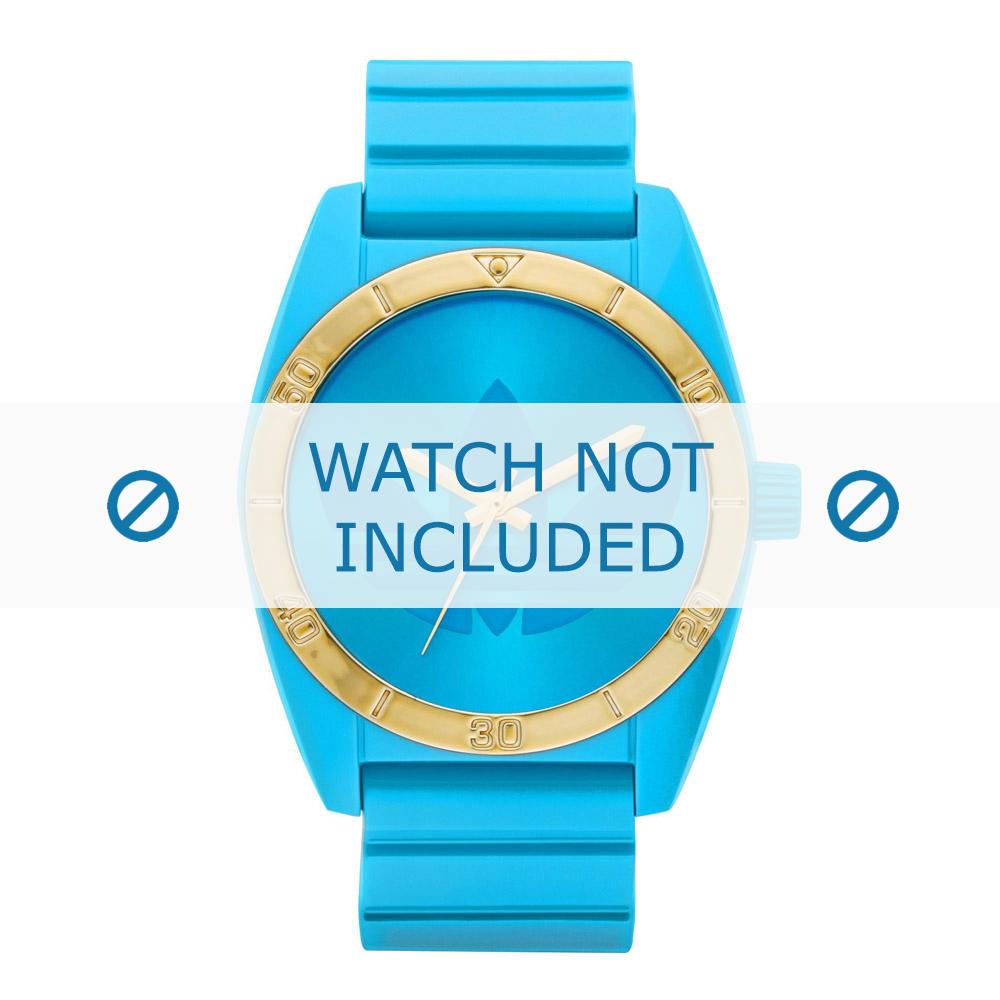Adidas horlogeband ADH2801 Silicoon Blauw 22mm