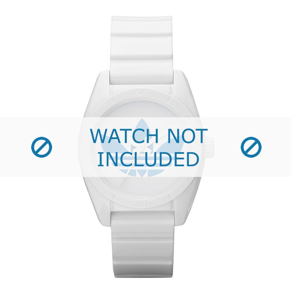 Adidas horlogeband ADH2807 Silicoon Wit 16mm
