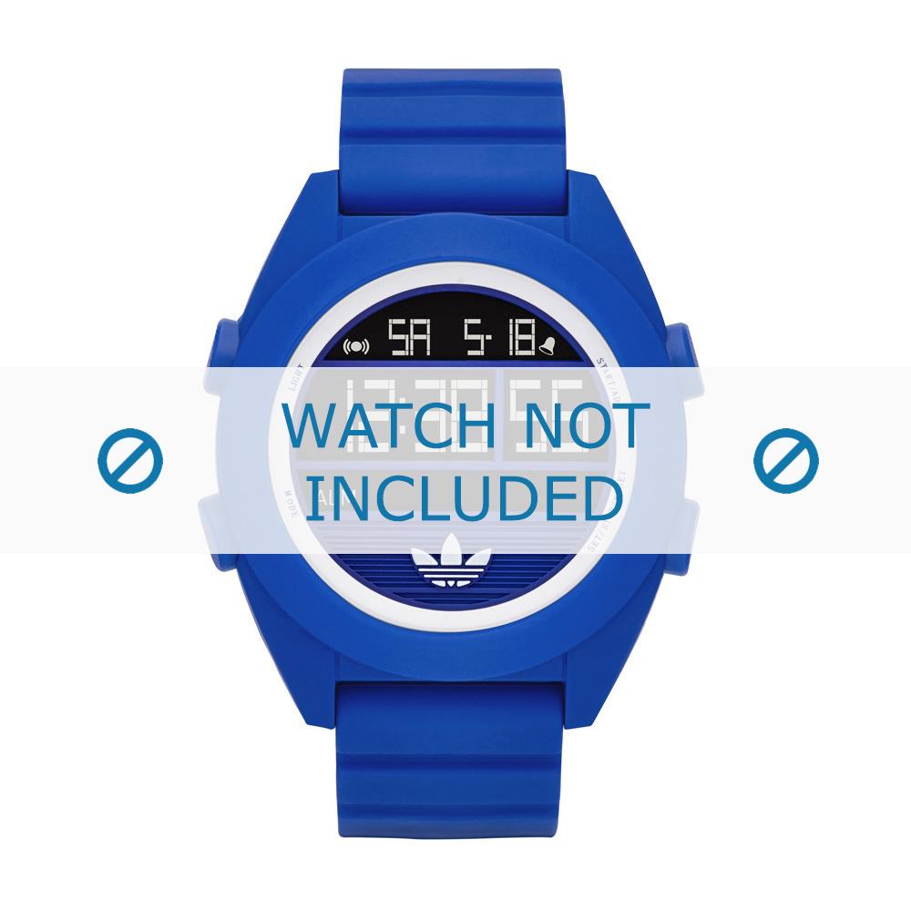Adidas horlogeband ADH2910 Silicoon Blauw 24mm