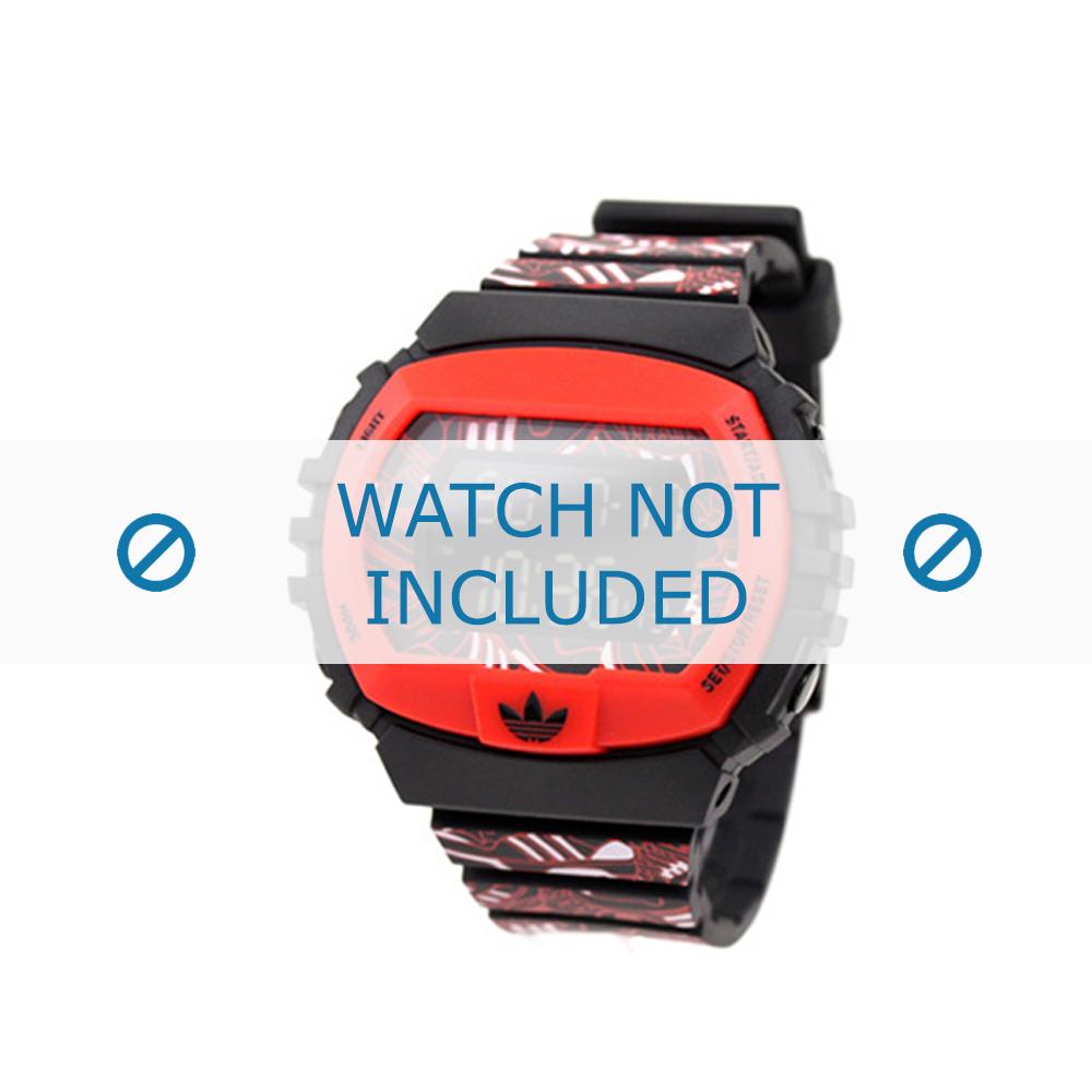 Adidas horlogeband ADH6128 Silicoon Rood 16mm
