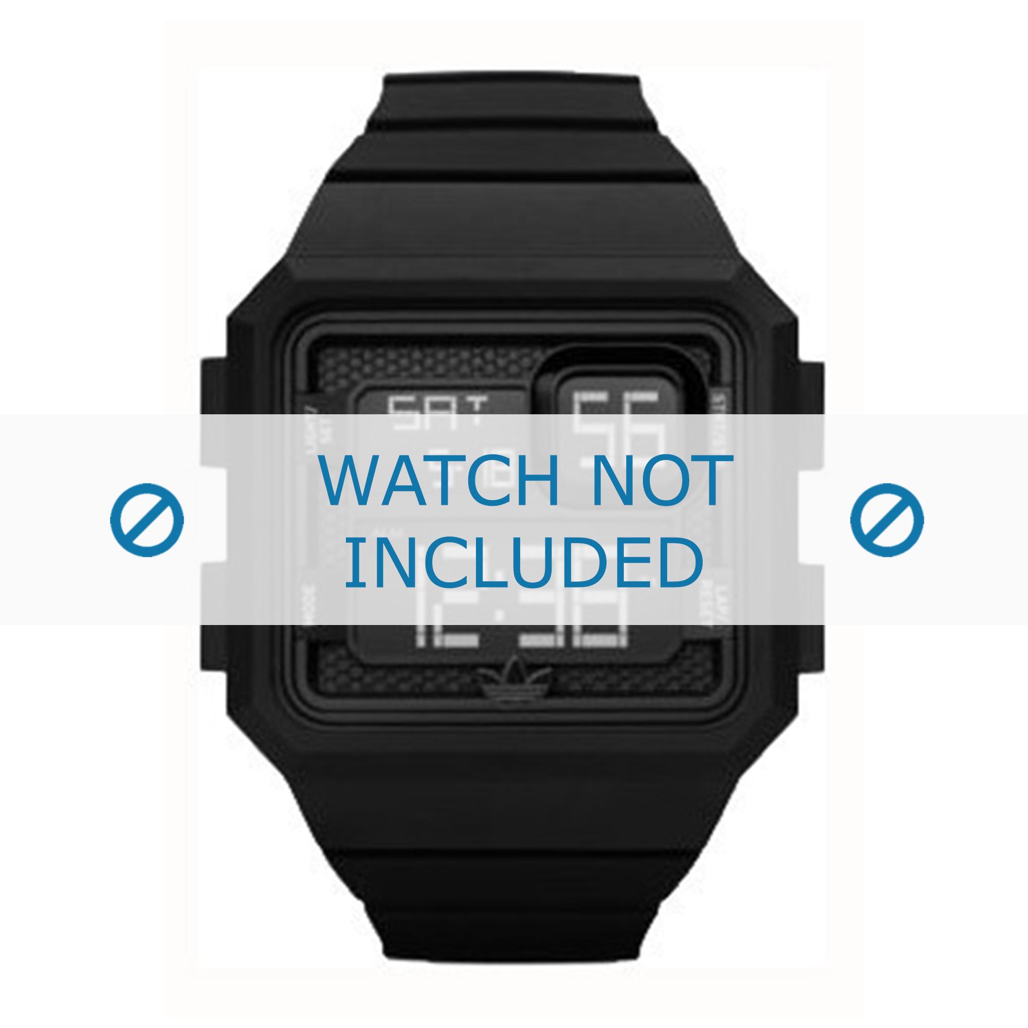 Adidas horlogeband ADH2770 Rubber Zwart