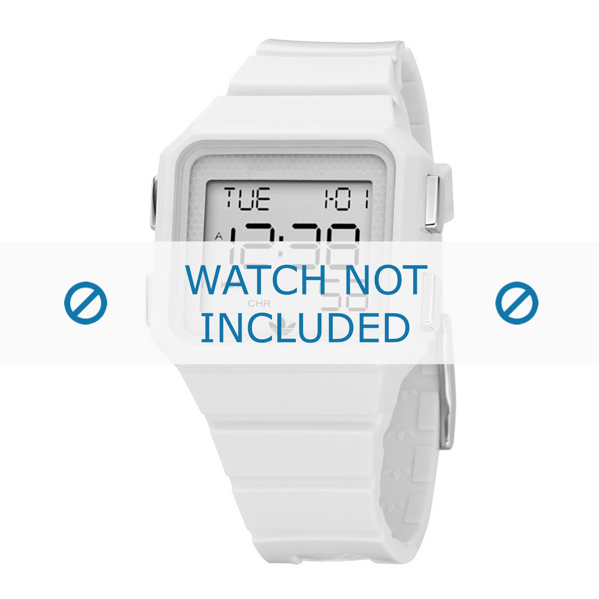 Adidas horlogeband ADH4000 Rubber Wit