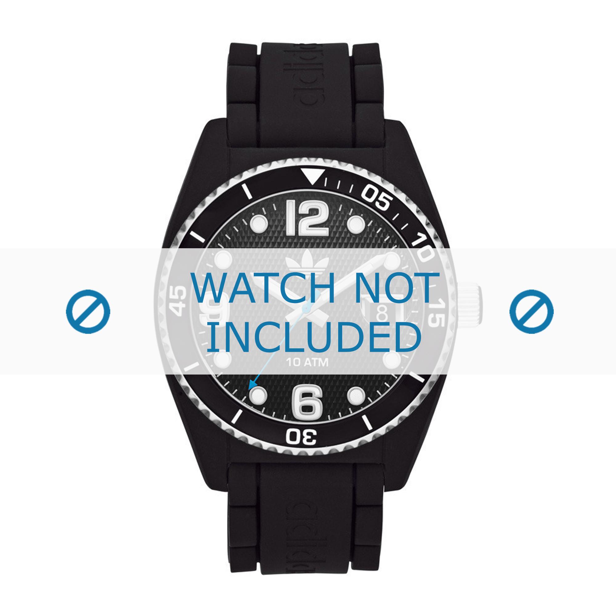 Adidas horlogeband ADH6151 Rubber Zwart 22mm