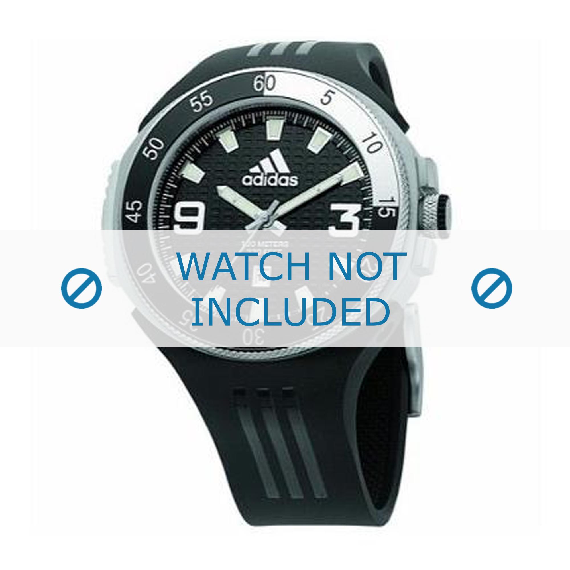 Adidas horlogeband ADP1793 Rubber Zwart