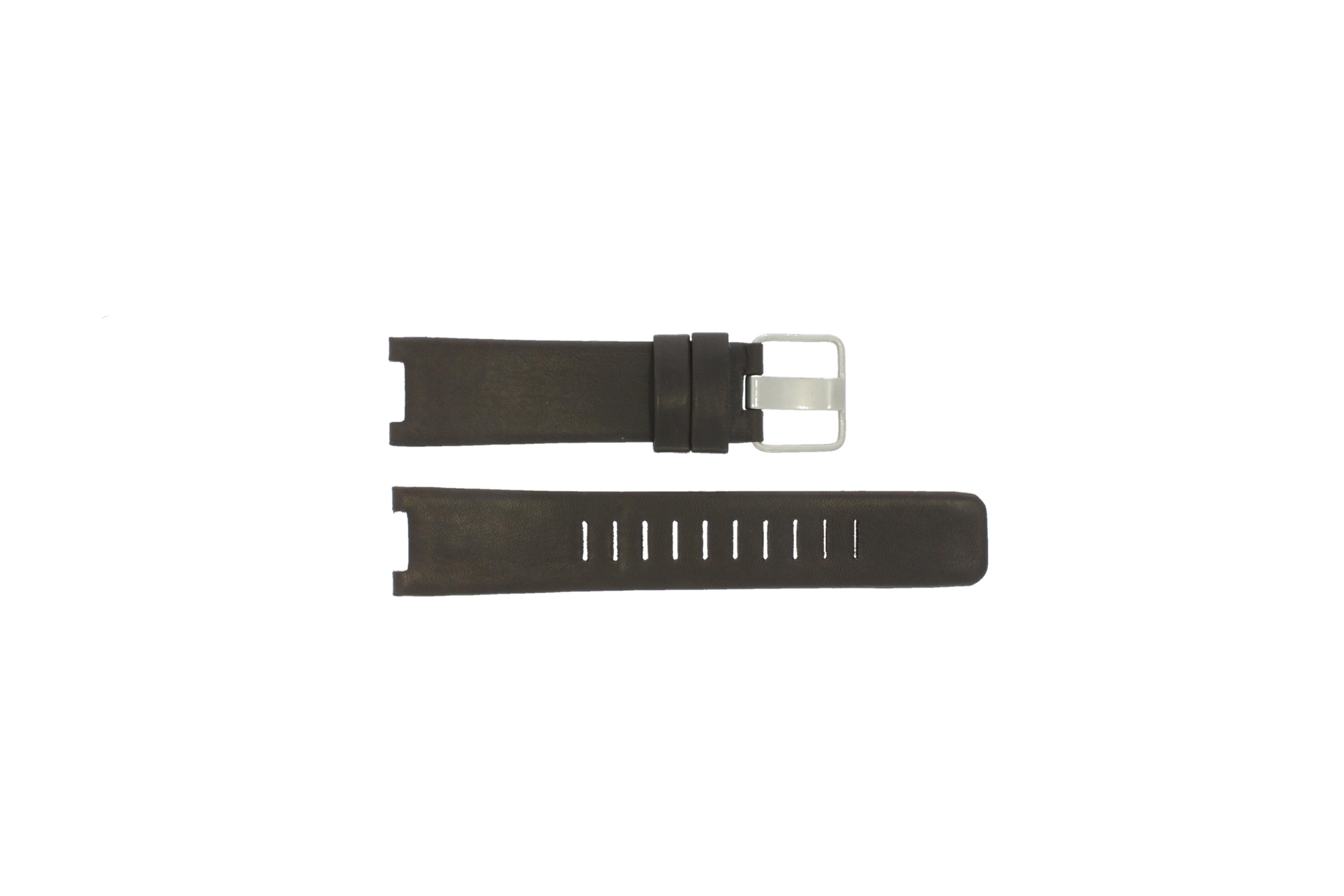 Alessi horlogeband AL5010 Leder Bruin 22mm