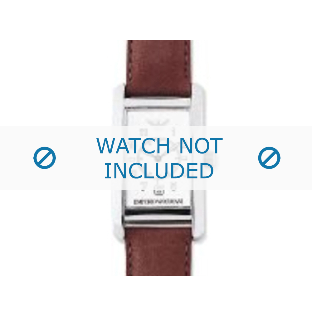 Armani horlogeband AR-0104 Leder Cognac 18mm