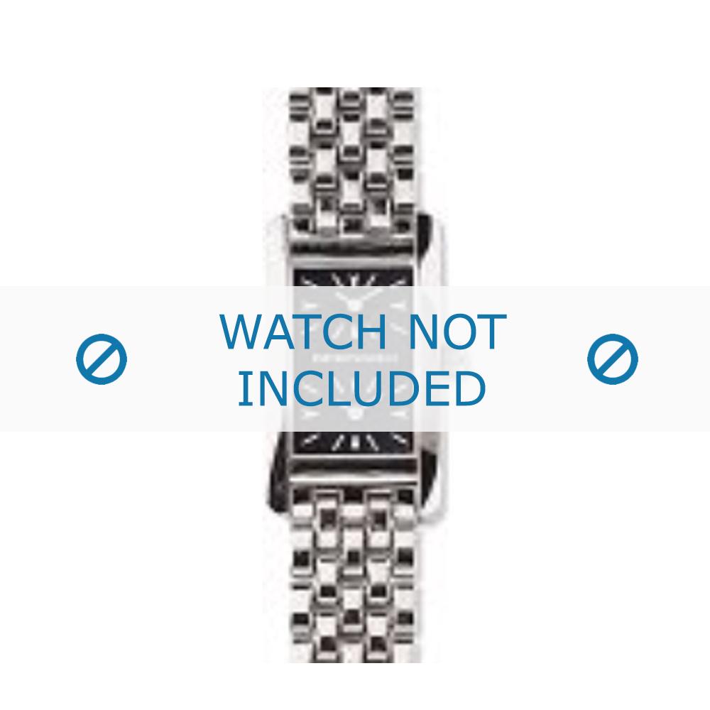 Armani horlogeband AR-0112 Staal Zilver 14mm