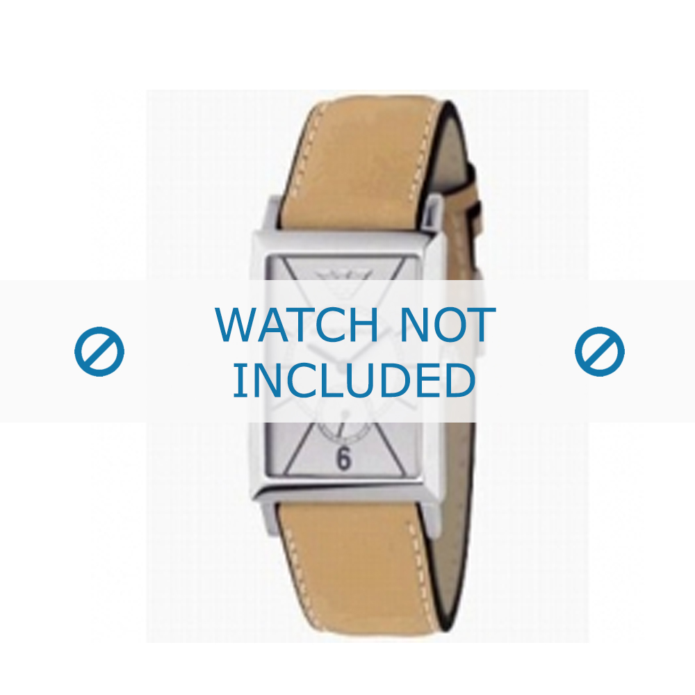 Armani horlogeband AR-0128 Leder Cognac 20mm