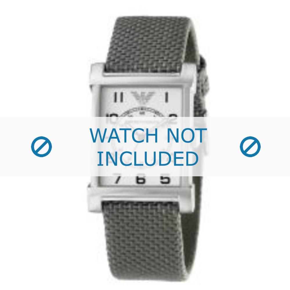 Armani horlogeband AR-0222 Textiel Grijs 22mm